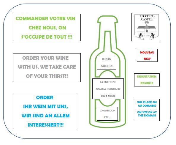 Bar, boissons et commande de vin